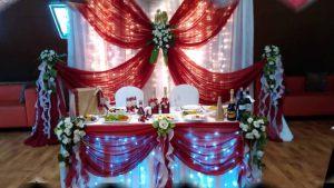 Оформление свадьбы в цвете марсала цены