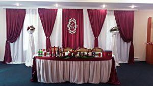 Оформление на свадьбу в цвете марсала фото