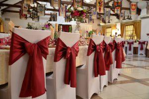 Оформление свадеб в цвете марсала оригинально
