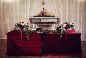 Декор свадеб в цвете марсала фото