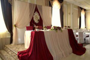 Украшение свадеб в цвете марсала цены