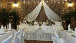 Декор на свадьбу в молочном цвете оригинально