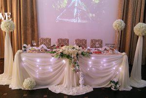 Украшение свадьбы в молочном цвете дешево