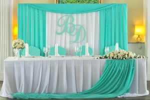 Украшение свадьбы в морском цвете фото