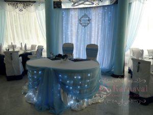 Оформление на свадьбу в морском цвете фото