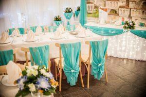 Украшение на свадьбу в мятном цвете дешево
