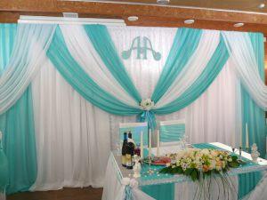 Украшение свадьбы в мятном цвете фото