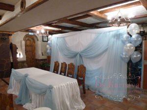 Оформление свадеб в небесном цвете оригинально