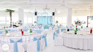 Декор на свадьбу в небесном цвете цены