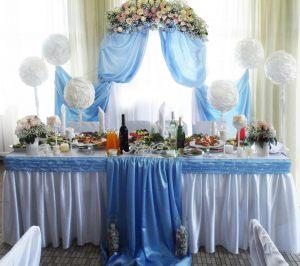 Декор свадьбы в небесном цвете недорого цены