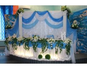 Оформление свадеб в небесном цвете в Москве