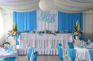 Декор на свадьбу в небесном цвете недорого цены