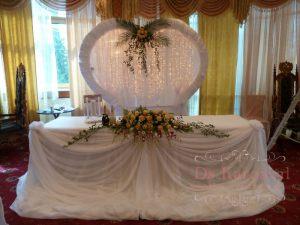 Украшение на свадьбу в необычном цвете в Москве