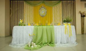 Декор свадьбы в оливковом цвете красиво