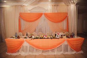 Украшение на свадьбу в оранжевом цвете недорого