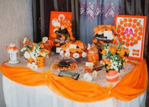 Оформление свадеб в оранжевом цвете дешево
