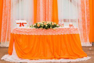 Оформление свадьбы в оранжевом цвете недорого