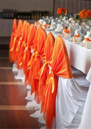Оформление свадьбы в оранжевом цвете красиво