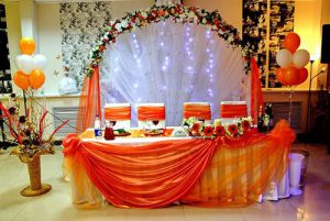 Украшение на свадьбу в оранжевом цвете недорого в Москве
