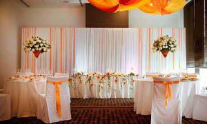 Оформление на свадьбу в оранжевом цвете в Москве