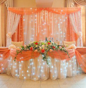 Украшение на свадьбу в оранжевом цвете оригинально
