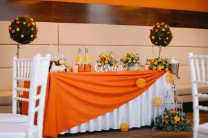 Украшение свадьбы в оранжевом цвете недорого цены
