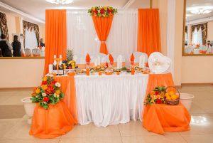 Оформление свадеб в оранжевом цвете в Москве