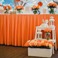 Украшение свадеб в оранжевом цвете оригинально