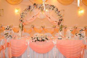Украшение на свадьбу в персиковом цвете недорого в Москве
