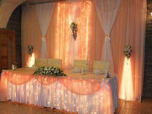 Декор свадьбы в персиковом цвете недорого в Москве