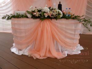 Украшение свадеб в персиковом цвете недорого в Москве
