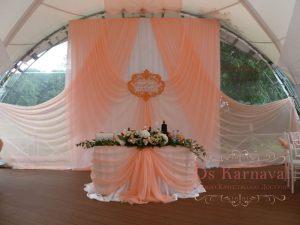 Декор на свадьбу в персиковом цвете фото