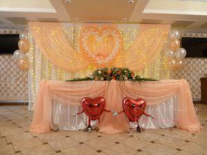 Декор свадьбы в персиковом цвете дешево