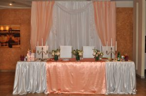 Украшение на свадьбу в персиковом цвете фото
