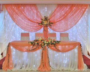 Украшение свадеб в персиковом цвете оригинально