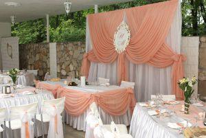 Украшение на свадьбу в персиковом цвете цены