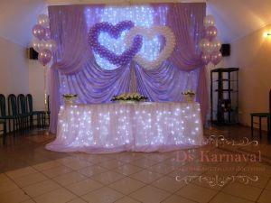 Декор свадьбы в пурпурном цвете цены