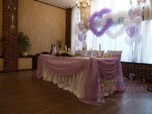 Декор свадеб в пурпурном цвете в Москве