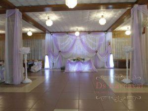 Декор свадеб в пурпурном цвете оригинально