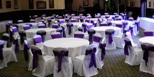 Декор на свадьбу в пурпурном цвете недорого в Москве