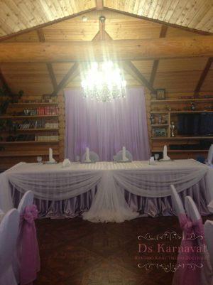 Украшение свадьбы в пурпурном цвете фото