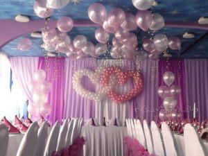 Декор на свадьбу в пурпурном цвете фото