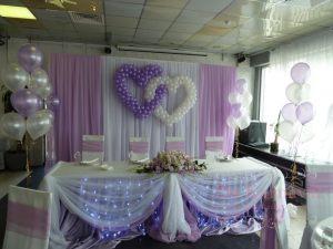 Декор свадеб в пурпурном цвете дешево