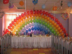 Декор на свадьбу в цвете радуги в Москве