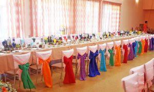 Декор на свадьбу в разных цветах в Москве
