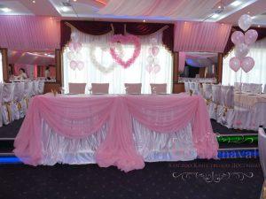 Украшение свадьбы в розовом цвете в Москве