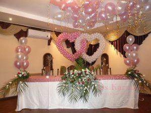 Украшение свадьбы в розовом цвете красиво
