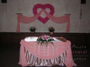 Декор свадьбы в розовом цвете фото