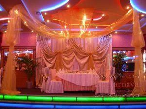 Украшение на свадьбу в розовом цвете в Москве
