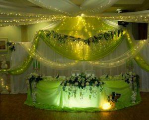 Оформление свадьбы в салатовом цвете дешево